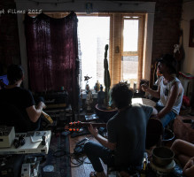 Isaac Dean: Michael Jost, Isaac Irvin and Kevin Witucki – Radio Venice – Photo by Karen Criswellean1