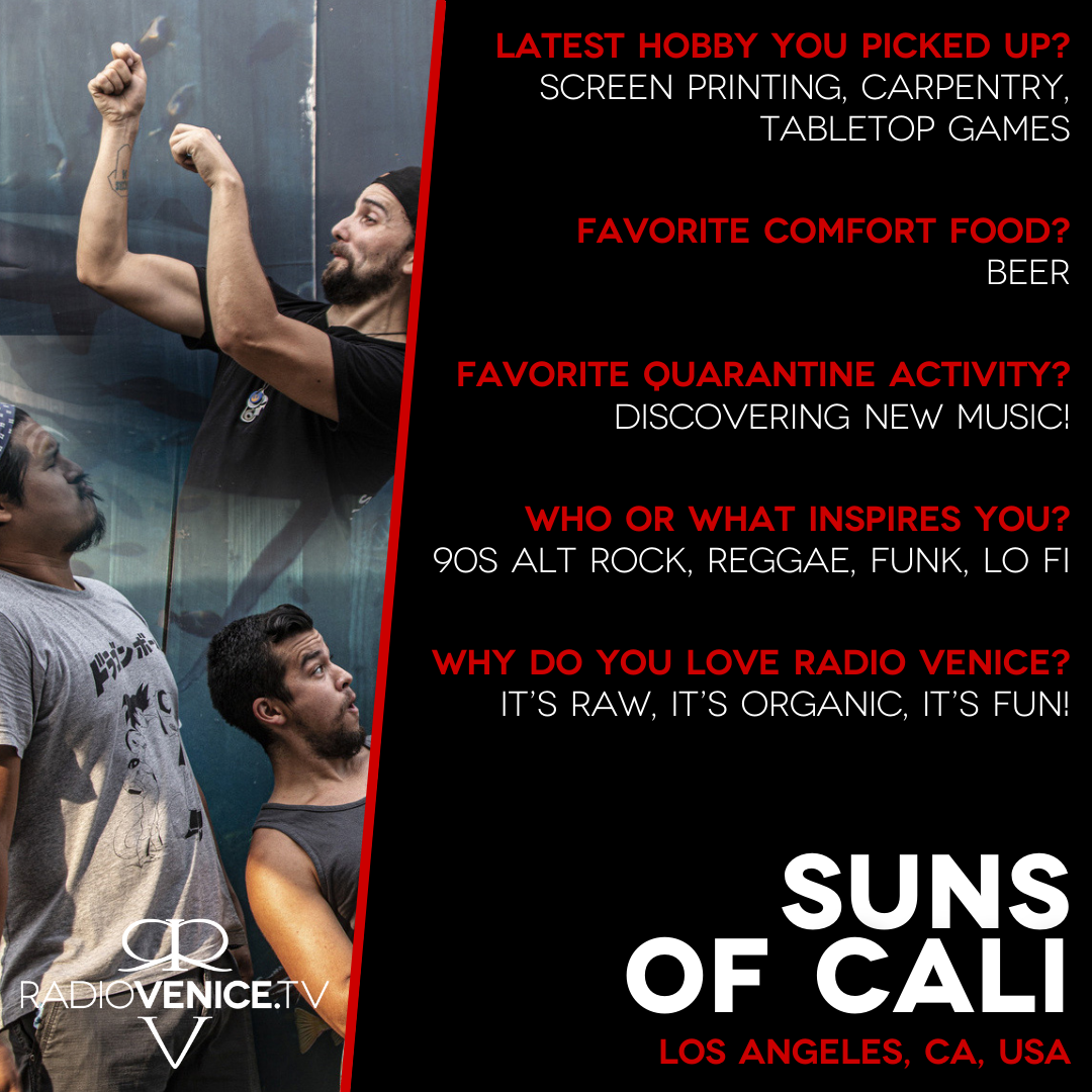 Q+A with Suns of Cali and Radio Venice
