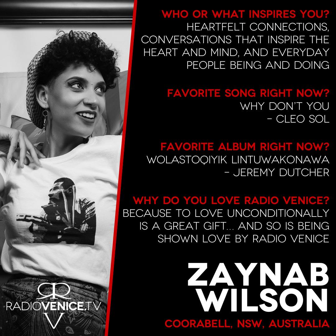 Q+A with Zaynab Wilson and Radio Venice