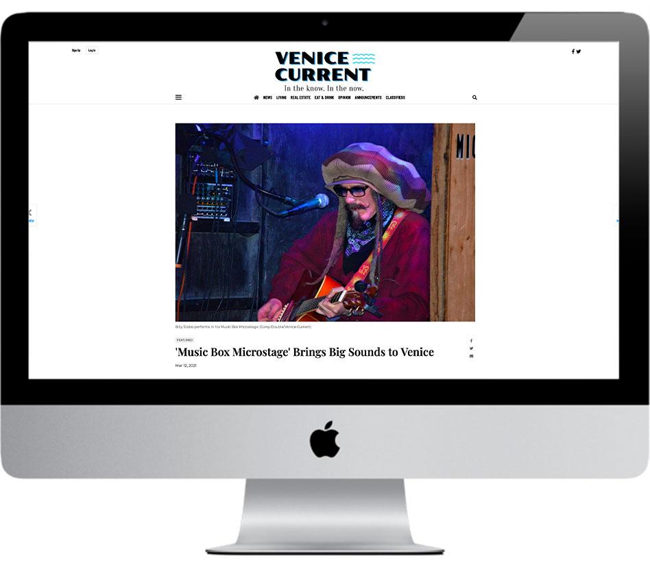 Venice Current - Music Box Microstage Brings Big Sounds to Venice - Radio Venice